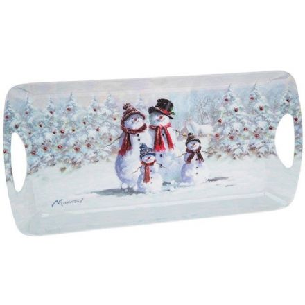 Snowman Family Medium Tray